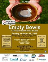 17th Annual Empty Bowls Dinner Event and Fundraiser