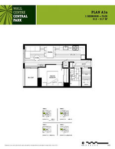 Wall Centre Central Park - 1 Bed + Flex - GREAT INVESTMENT!