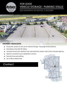 PARKING LOT FOR RENT FOR VEHICLE & RV STORAGE