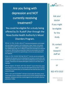 Depression Study: Call for Participants!