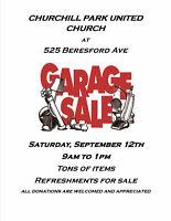 Churchill Park United Church Annual Garage Sale