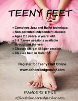 Teeny Feet Classes Available at Dancers Edge Osler!