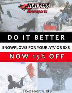 15% Off Snow Plows! Save Your Back & Your Wallet!