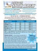 Residential-only, damage-free snow removal - London Snow Crew