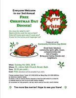 *** FREE CHRISTMAS DAY DINNER in BATH ***