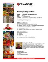 Healthy Eating for Kids, Canadore College, Parry Sound