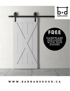 Modern Rustic Sliding Barn Doors - SOLID CORE