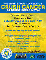 Nurse Scrap Metal's CRUSHING IT for the Canadian Cancer Society