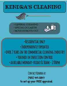 Kendra's Cleaning Services  Peterborough Peterborough Area image 1