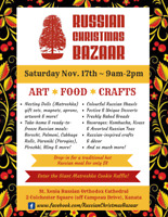 Russian Christmas Bazaar - Saturday Nov 17th, 9am-2pm