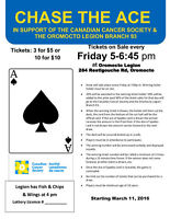Chase the Ace Oromocto - Every Friday