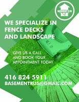 WE SPECIALIZE IN FENCE AND DECK~ CALL TO BOOK  APPOINTMENTS