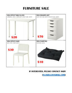 Furniture Sale - IKEA Desk and Chair