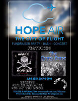 HOPE AIR FUNDRAISER-w/THE GYPSY CURSE and mALICE & MONSTERS