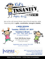 Kids Insanity Fitness Classes!