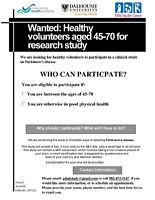 Wanted: Healthy Volunteers to participate in research study