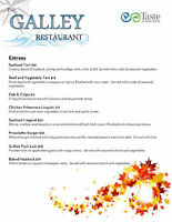 The Galley Restaurant new Fall hours and Menu