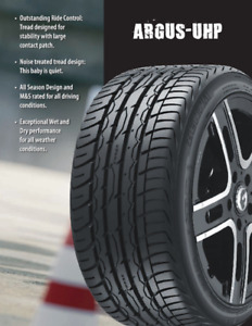 Ultra High Performance tires (Zenna Argus) 245/45/20 - 275/40/20
