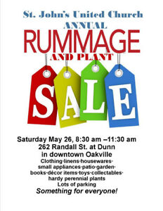 Church Rummage and Plant Sale - Oakville