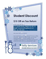 Student Tax Return FiIling - Special Discount Offer
