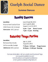 Sunday Dances in Guelph - August 2 and 23