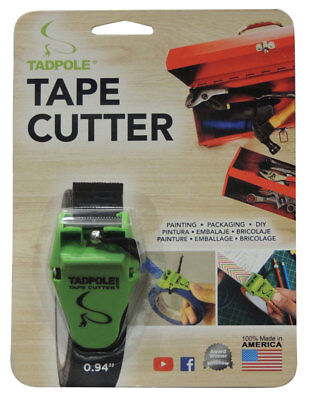 Tadpole 1 In. W X 2 Inch L Tape Cutter Green