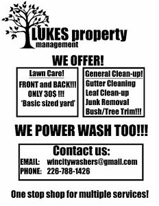 Yard Dirty? Weeds out of control? Need your lawn mowed?