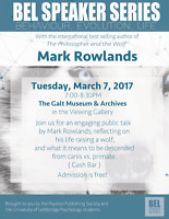 Join us for even evening with Mark Rowlands