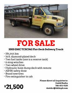 2003 GMC TC5C042 Flat-Deck Delivery Truck