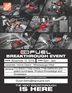MILWAUKEE BREAKTHROUGH EVENT - MISSISSAUGA WEST - HOME DEPOT