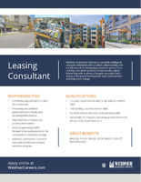 Part Time Leasing Consultant - Cedar Garden Apartments
