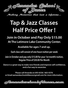 Tap and Jazz dance class special offer