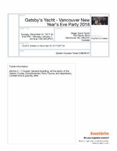 Gatsby's Yacht - Vancouver New Years Eve Party 2018