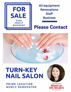 Turn- Key Nail Salon Business for Sale