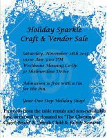 Holiday Sparkle Craft & Vendor Sale (Tables are full)