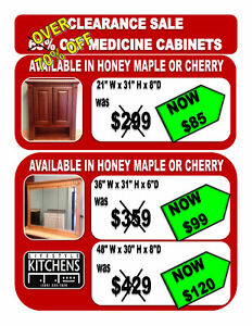 FURTHER REDUCED! OVER 70% OFF MEDICINE CABINETS!!