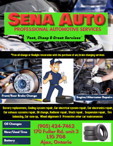 ***Spring Deals @ SENA AUTO for all Automotive Services***