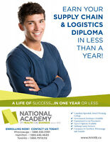 Earn your SUPPLY CHAIN & LOGISITICS diploma in less than a year