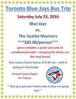Blue Jays Bus Trip - Makes a Great Father's Day Gift