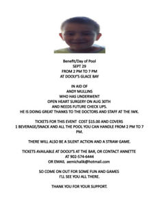 Benefit at Dooly's for Andy Mullins