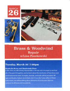 Brass and Woodwind Repair Clinic!