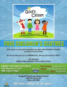 God's Closet – FREE CHILDREN'S CLOTHES
