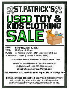 Used Toy & Kid's Clothing Sale @ St. Patrick's Church