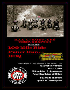 B.A.C.A. 100 Mile Ride Poker Run and BBQ