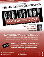 Songs with & without Keys- Harmonic Generation & Gretchen Martin