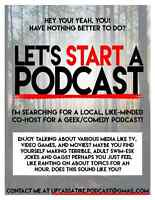 Podcast Co-host Casting.
