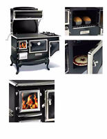 "Elmira 48"" Fireview 1842 Wood Cookstove with Gas Burners"
