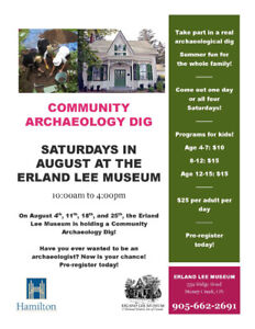 Community Archaeology at the Erland Lee Museum