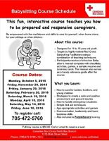 Babysitting and People Savers Course for Youth - North Bay