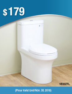 One Piece Fully Concealed Trapway Toilet